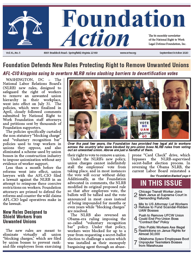 Foundation Action September October 2020 Cover